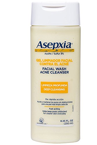 Asepxia Shower Gel Acne Blackhead Pimple Treatment with 2% Sulfur, 8.5 Fluid Ounce