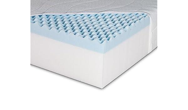 Visco Terapia Reflex Apoyo 180 Regular colchón con Espuma Aire Que circula de Huevos para Cortar, Double, 4 ft 6-Inch, 135 x 190 x 18 cm, Color Blanco, ...
