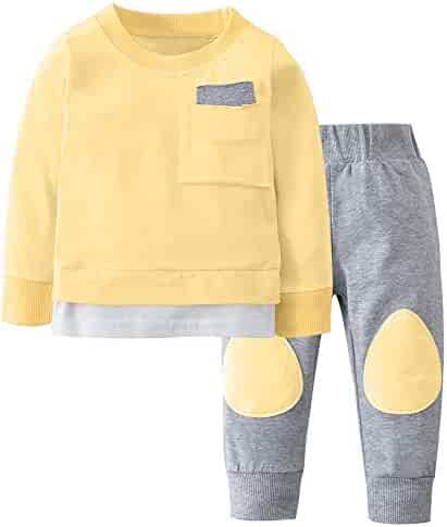 02692964e Suma-ma 0-3 Years Baby Boy Girl Cotton Outfits Solid T shirt Tops