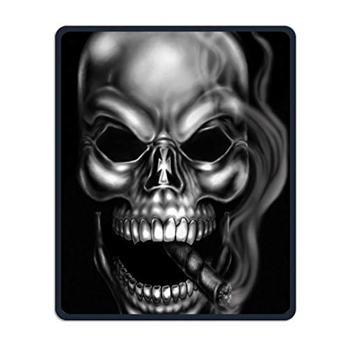 Mouse Pad Cool Skull Rectangle Rubber Mousepad Length 8.66 Width 7.09 Inch Gaming Mouse Pad with Black Lock Edge -