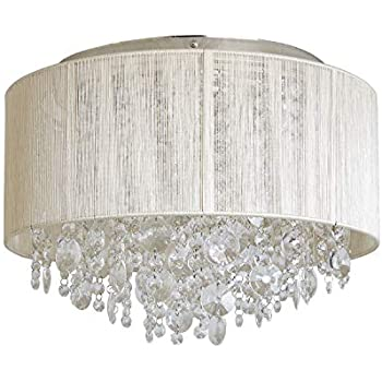 Decor Therapy Ch1870 Serena String Beaded Flush Mount