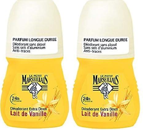 Le Petit Marseillais 24 Desodorante 50ml extra suave vainilla Leche Ball - Juego de 2: Amazon.es: Salud y cuidado personal