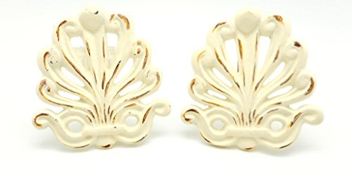 VIPSSCI Curtain Tie Back Holder Set of Two Cast Iron Victorian Style Antique ()