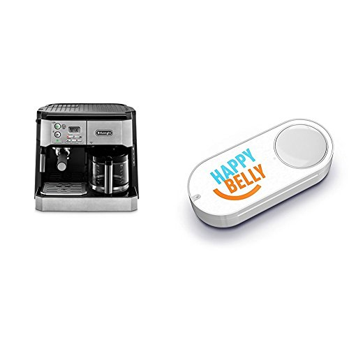 DeLonghi-BCO430-Combination-Pump-Espresso-and-10-cup-Drip-Coffee-Machine-Silver-and-Black-Happy-Belly-Dash-Button