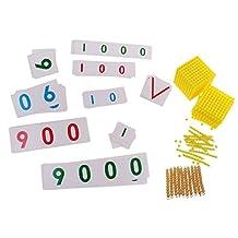 MonkeyJack Montessori Early Education Math Materials Bank Game Toy Ten Beads Bar for Kids Intelligent Development Gift