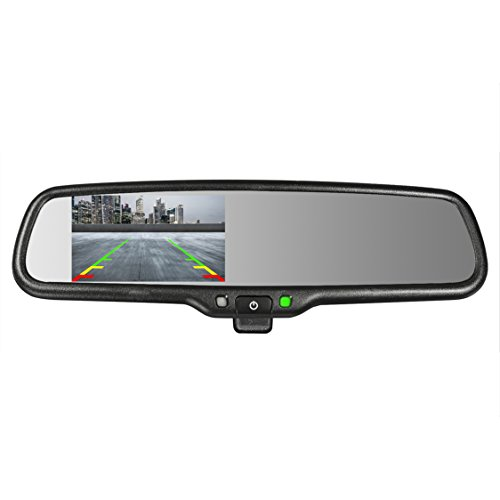 Master Tailgaters OEM Rear View Mirror with 4.3'' Auto Adjusting Brightness LCD + Manual Dimming - Universal Fit by Master Tailgaters