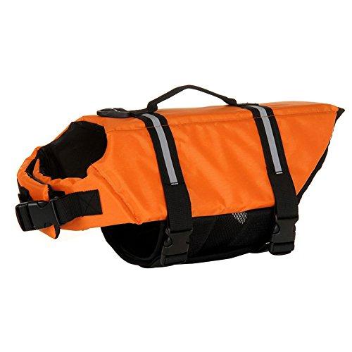 Dog Life Jackets Saver Float Coat Safety Reflective Vest Pet Life Preserver Orange XS