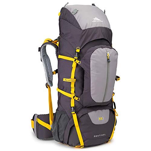 High Sierra Sentinel 65L Internal Frame Backpack, Mercury/Ash/Yell-O