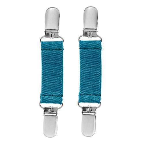 Clips N Grips Childrens Mitten Clips Toddler Mitten Keepers - Teal