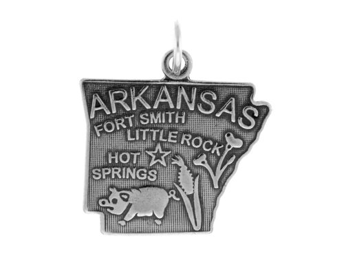 (Sterling Silver Arkansas State Charm)