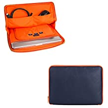 Travel Tablet Sleeve Pouch Bag Carrying Case Messenger Bag 10.1-Inch for Huawei MediaPad M3 Light / iRulu Walknbook 2 / LG G Pad 10.1 / Nextbook Ares 10A / Samsung Galaxy Tab A 10.1 (Blue)