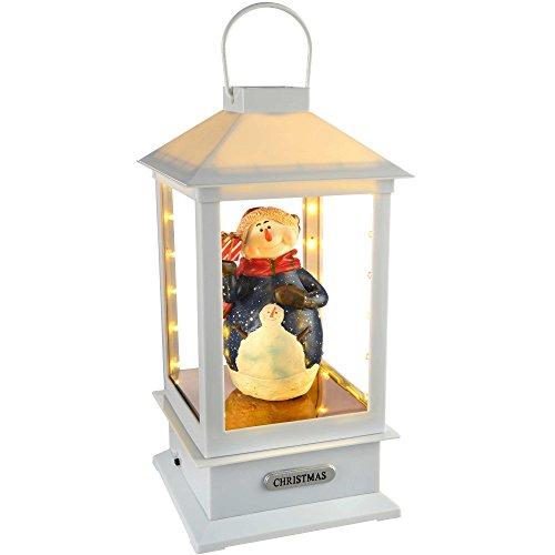 WeRChristmas Pre-Lit Led Snowman Musical Lantern Christmas Decoration, 32 Cm - (Pre Lit Led Color)