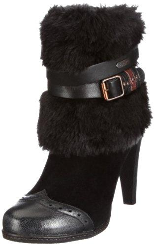 Leder schwarz B seitlicher aus Pepe Wildleder Damen Angel Reißverschlussstiefel Jeans cBqzHOHwZ