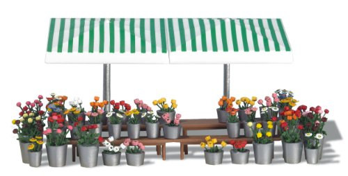 Busch 1072 Flower Market Stand HO Structure Scale Model Structure
