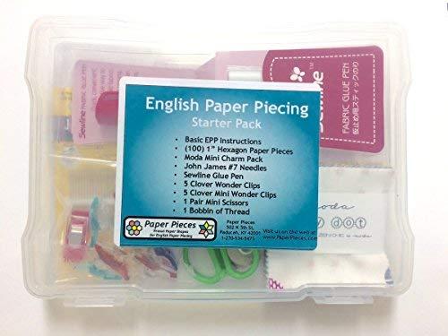 English Paper Piecing Starter - Piecing Paper Kit