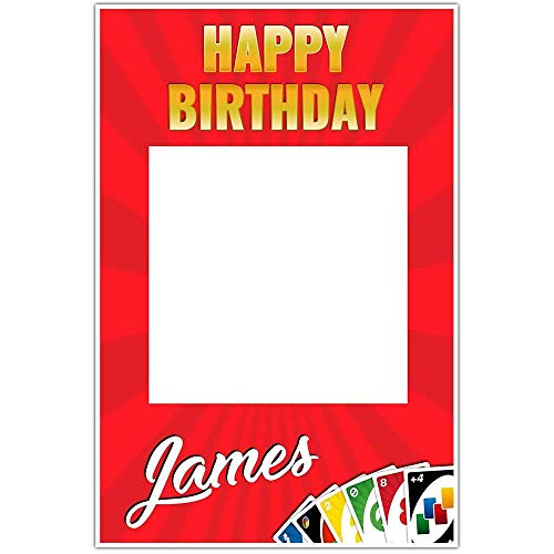 Uno Game Birthday Selfie Frame Poster]()