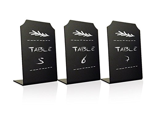 Acrylic Chalkboard Small Signs Memo Message - Mini Blackboard with Stand for Cafe & Restaurant Parties Place Cards Buffet Menus and Events Weddings - 4 x 6 Boards (3 Pack)