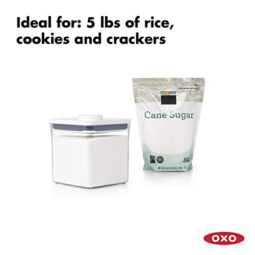 OXO NEW Good Grips POP Container - Airtight Food Storage - 2.8 Qt for Sugar and More,Transparent
