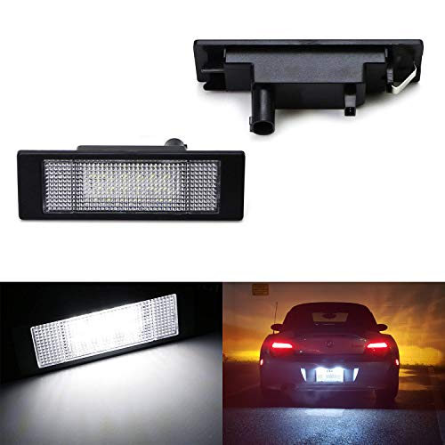 iJDMTOY OEM-Fit 3W Full LED License Plate Light Kit For BMW 1 6 Series Z4 X2 & i3, Powered by 24-SMD Xenon White LED & Can-bus Error Free