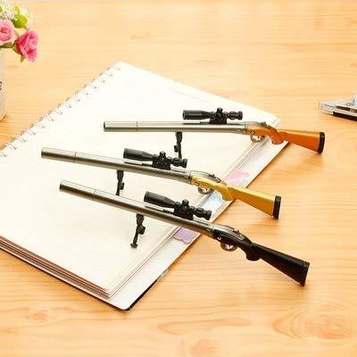 Rack Jack Pubg Sniper Rifle Gun Pen Blue Ink Gel With Scope Desk Stand Black Single Piece Gifts For Boyfriend Pens For Men Stationery Items