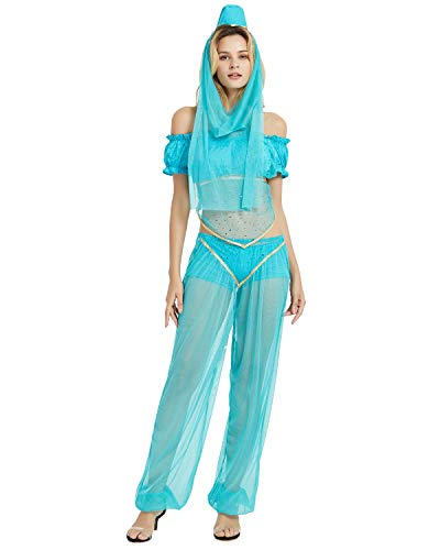 Jasmine Halloween Costumes Adult - Quesera Women's Princess Jasmine Costume Set