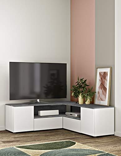 Temahome Meuble TV Angle, 130x40x46 cm (LxPxH)
