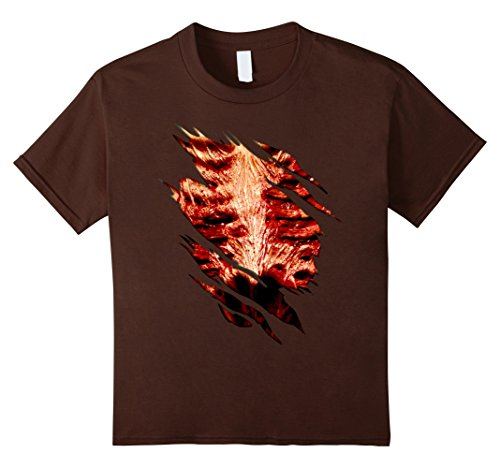 unisex-child Halloween Costume Zombie Chest Ripped T Shirt 12 Brown for $<!--$14.95-->