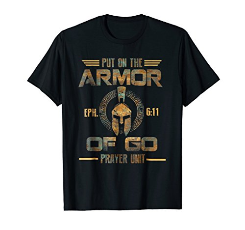 Vitage Put on the Armor of God Christian Camo T-Shirt