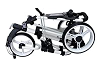 Qwik-Fold 3 WHEEL PUSH PULL GOLF CART - FOOT BRAKE - ONE SECOND TO OPEN & CLOSE!