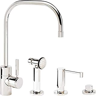 product image for Waterstone 3825-3-AC Fulton Kitchen Faucet 3pc. Suite Antique Copper
