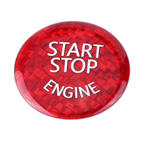 Aramox Car Engine Stop Button Cover, Engine Start Button Cover Engine Button Switch Cover Carbon Fiber Engine Stop Switch Button Cover Sticker for E Underpan: