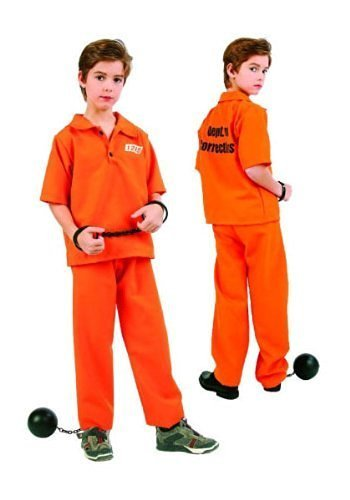 Not Guilty Prisoner Boy Kids Costume (Boys Prisoner Costume)