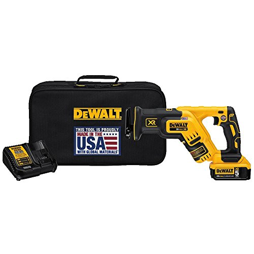 Dewalt Recip Saw - DEWALT DCS367P1 20V Max XR Brushless Compact Reciprocating Saw, 5.0 Ah,