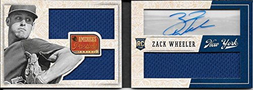 2013 America's Pastime Red Zack Wheeler Triple Jersey Autograph RC Book #17/49