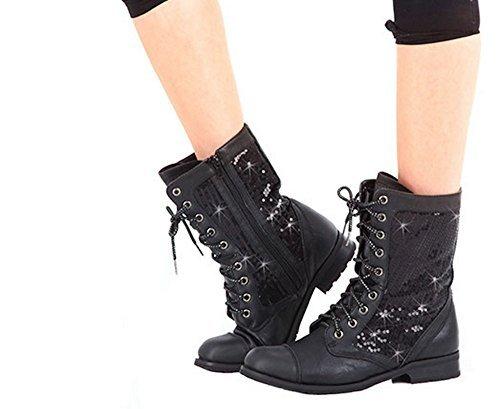 [Gia Mia] Kombat ブーツ GS3 B00BC45FRQ ブラック Adult 9 (M)