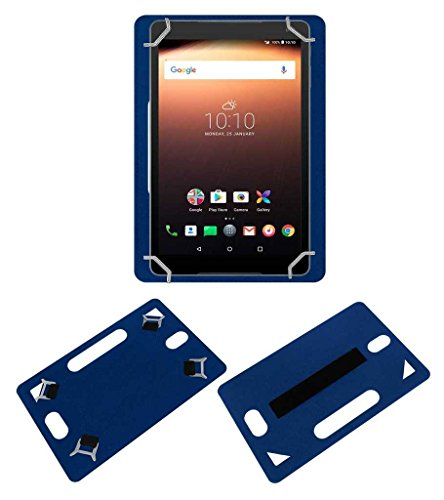 Acm Leather Back Hand Case Compatible with Alcatel A3 10 Tablet Cover Blue