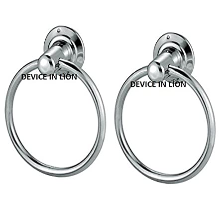 DEVICE IN LION Stainless Steel Light Round Shape Towel Ring
