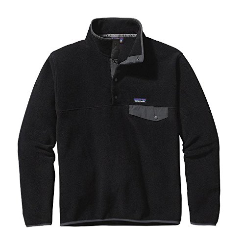 Patagonia Mens Lightweight Synchilla Snap-T Pullover, L, Black