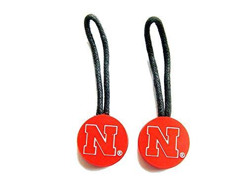 NCAA Nebraska Cornhuskers Team Logo Zipper Pull Charm Luggage Pet ID Tag (Pet Tag Set)