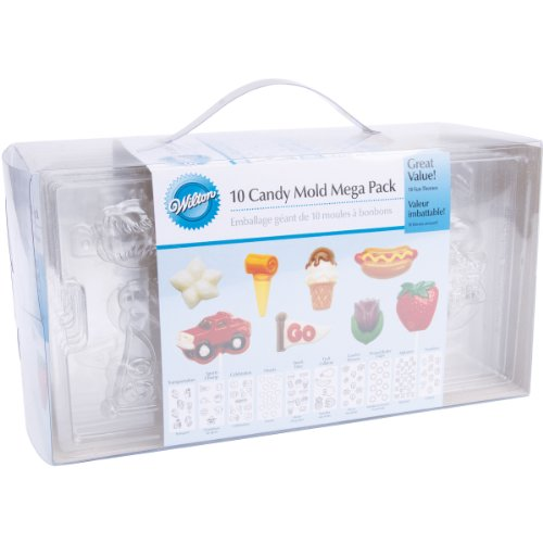 Wilton 10 Piece Candy Mold Mega Pack