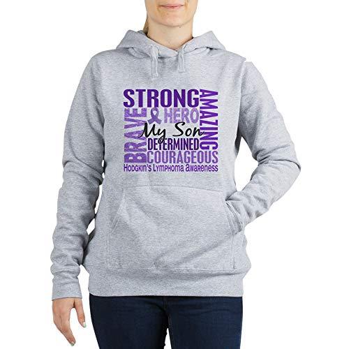CafePress Tribute Square Hodgkin's Lymphoma Sweatshirt Women's Hooded Sweatshirt Light Steel