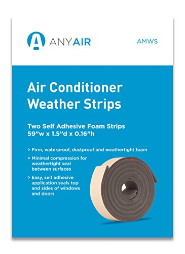 ANYAIR AMWS Window Seal Air Conditioner Self Adhesive Foam Weather Strip Sealant 2 PACK Vertical Weatherstrip
