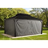Sojag Polyester Gazebos for Messina Hard Top Sun Shelter, 12' x 16', Grey