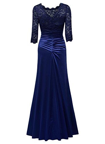 Blu Pizzo Vintage Vestito MIUSOL 1950s Lungo Donna Coctel wPRRf40n