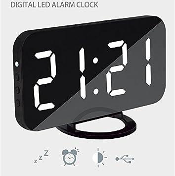 Ultradünne Einfache Lesen Sie Moderne Snooze LED Digital Schmücken Wecker  Mit Telefon Ladegerät Für Hauptdekor