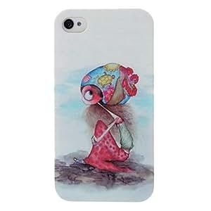 Cute Cartoon Girl Plastic Hard Case for iPhone 4/4S