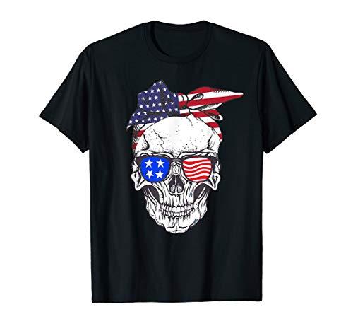 ican Flag Bandana Glasses 4th Of July T-Shirt ()