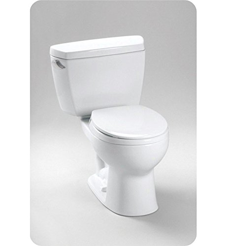 TOTO CST743SB#01 Drake 2-Piece Toilet with Round Bowl and Bolt Down Tank Lid, Cotton White -