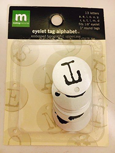 Alphabet Eyelet Tag - Making Memories Eyelet Tag Alphabet 1'rounds