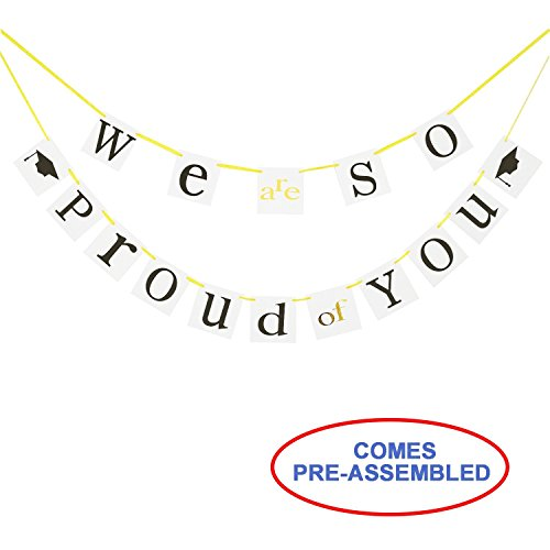 (Graduation Banner - We are so Proud of You Banner - Graduation Party Decorations - Graduation Gift for Son Daughter)
